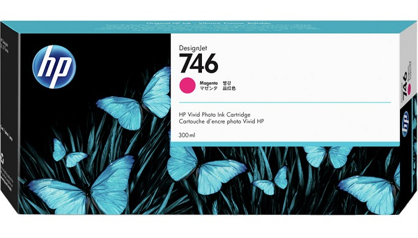 Hp 746 300-ml Magenta Ink Cartridge ( P2v78a )