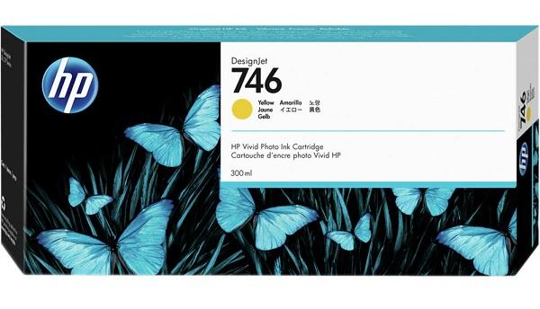 Hp 746 300-ml Yellow Ink Cartridge ( P2v79a )