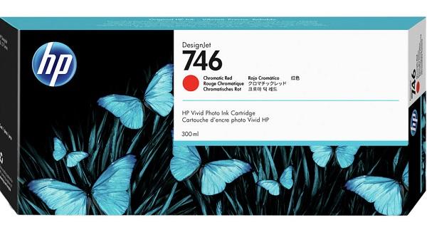 Hp 746 300-ml Chromatic Red Ink Cartridge ( P2v81a )