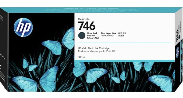 Hp 746 300-ml Matte Black Ink Cartridge ( P2v83a )