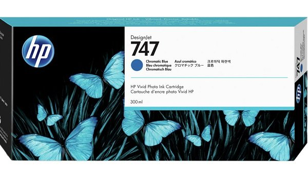 Hp 747 300-ml Chromatic Blue Ink Cartridge ( P2v85a )