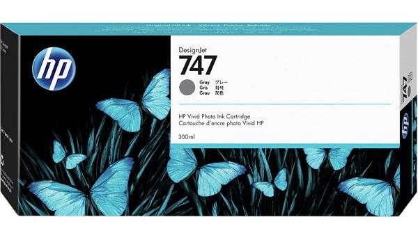 Hp 747 300-ml Gray Ink Cartridge ( P2v86a )