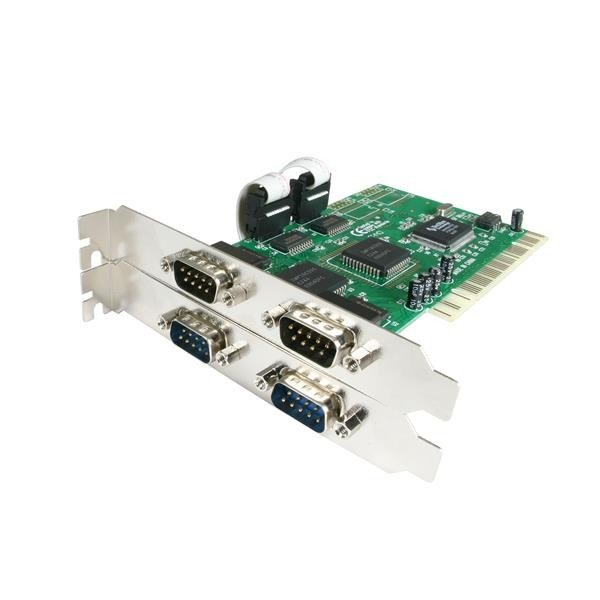 STARTECH 4 Port Pci Rs232 Serial Adapter Card PCI4S550N