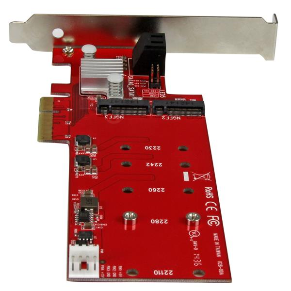 Startech 2X M.2 NGFF SSD Raid Controller Card Controller (PEXM2SAT3422)