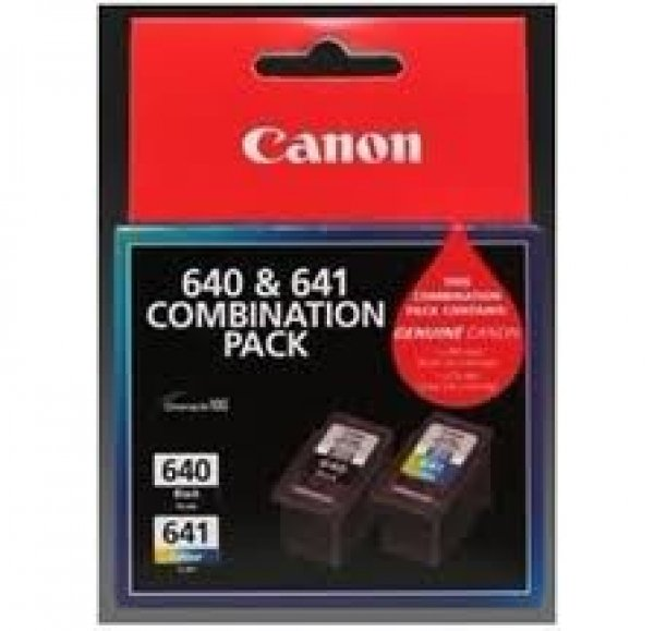 CANON 1x Pg-640 Black 1x Cl-641 Colour Ink PG640CL641CP