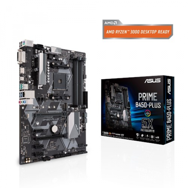 Asus Prime-B450-Plus Atx Motherboard AMD AM4 ATX With Aura Sync RGB Header (PRIME B450-PLUS)