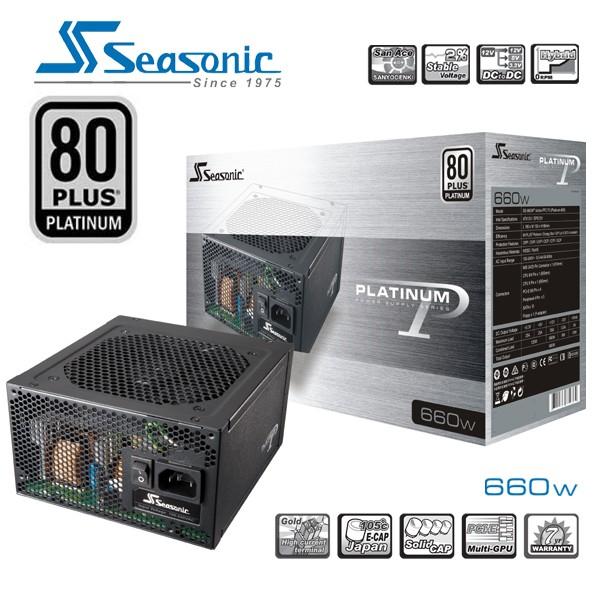 SEASONIC 660w 80plus Platinum Series Power Supply PSUSEAP660V2NEW