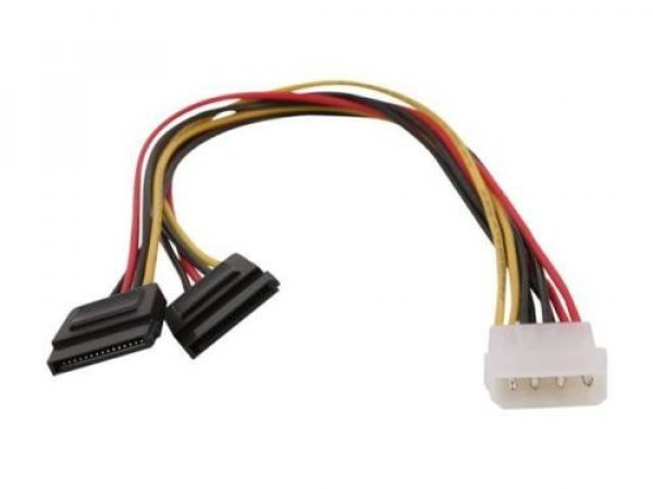 STARTECH 12in Lp4 To 2x Sata Power Y Cable PYO2LP4SATA