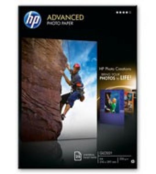 HP  Advanced Glossy Photo Paper-25 Sht/a4/210 Q5456A