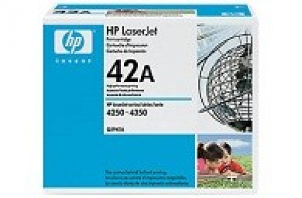 HP  42a Black Toner 10000 Page Yield For Lj Q5942A