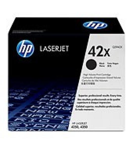 HP  42x Black Toner 20000 Page Yield For Lj Q5942X