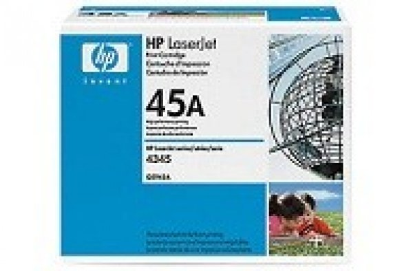 HP  45a Black Toner 18000 Page Yield For Lj Q5945A