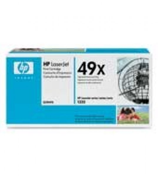 HP  49x Black Toner Cartridge for Lj 6000 Page Yield Q5949X
