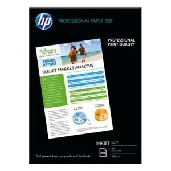 HP  Professional 120 Matt A4 Paper-replaced Q6593A