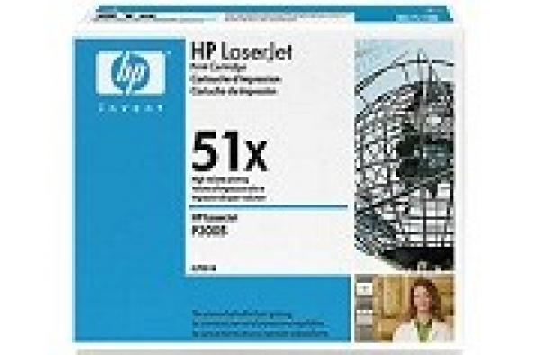 HP  51x Black Toner 13000 Page Yield For Lj Q7551X