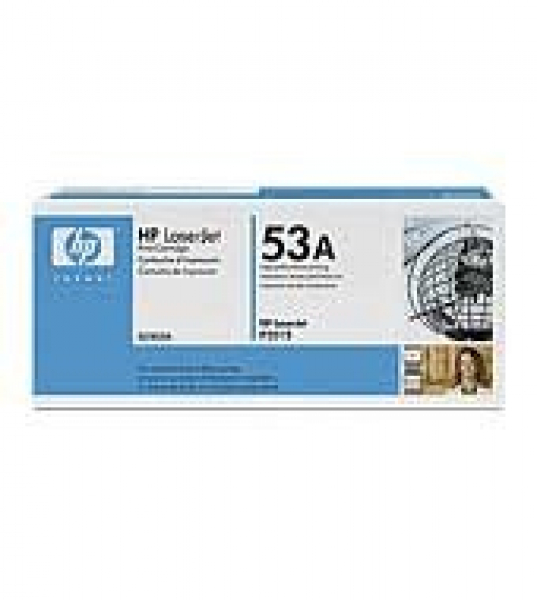 HP  53a Black Toner 3000 Page Yield For Lj Q7553A