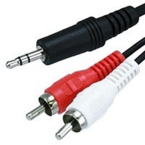 8WARE 3.5 St Plug - 2 X Rca Plug QK-8057