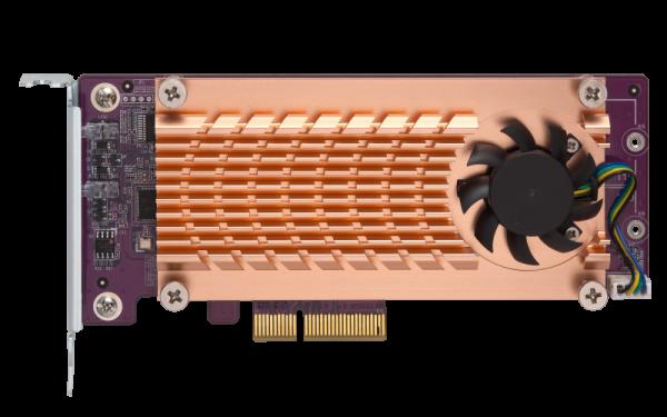 Qnap Dual M.2 22110/2280 Sata SSD Expansion Card (PCIE Gen2 NAS Accessories  (QM2-2S-220A)