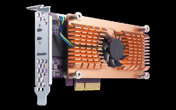 Qnap  Quad M.2 2280 Pcie Ssd Expansion Card (pcie Gen2 X4) ( Qm2-4p-284 )