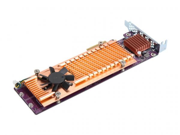 Qnap  Quad M.2 2280 Pcie Ssd Expansion Card (pcie Gen3 X2) ( Qm2-4p-342 )