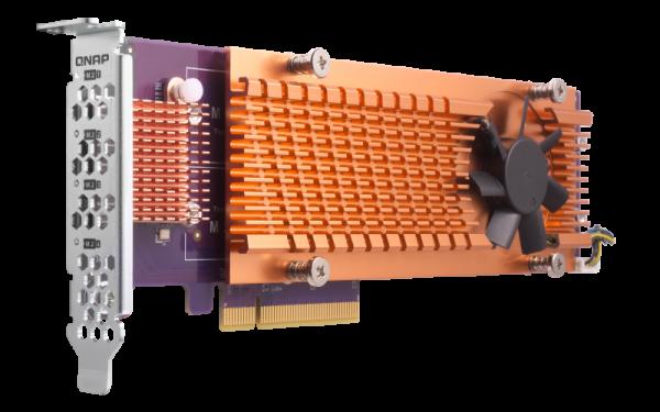 Qnap  Quad M.2 2280 Sata Ssd Expansion Card (pcie Gen2 X4 ) ( Qm2-4s-240 )