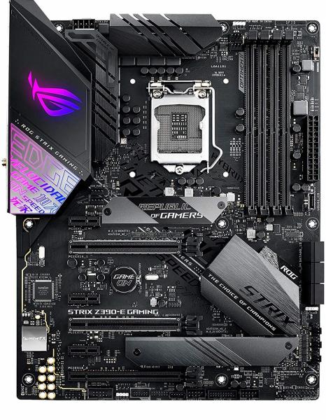 Asus Intel Z390 LGA 1151 ATX Gaming Mother Board with Aura Sync, 802.11ac Wi-Fi (ROG-STRIX-Z390-E GAMING)