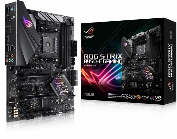 Asus AMD AM4 B450 ATX Gaming Mother Board with DDR4 3200MHz support, SATA 6Gbps, HDMI 2.0 (ROG-STRIX B450-F-GAMING)