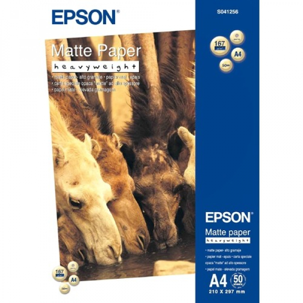 EPSON A4 Matte Paper Heavy Weight - 50 Sheets S041256
