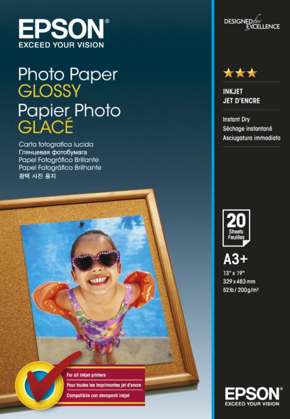 EPSON Photo Paper Glossy A3+ 20 S042535