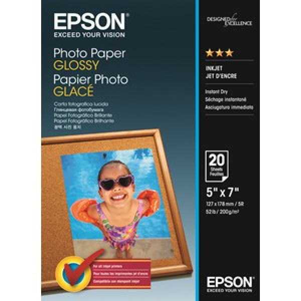 EPSON Photo Paper Glossy 5x7 20 S042544