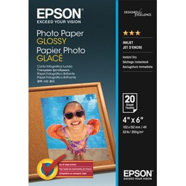 EPSON Photo Paper Glossy 4x6 20 S042546