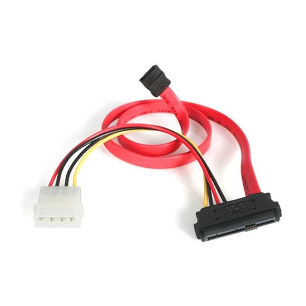 STARTECH 18in Sas 29 Pin To Sata Cable With Lp4 SAS729PW18