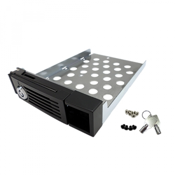 Qnap HDD Tray With Lock & Keys For - Silver NAS Accessories (SP-TS-TRAY-SILVER)