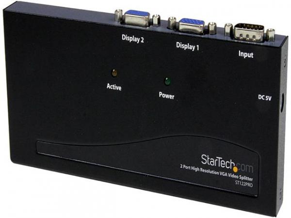 STARTECH 2 Port High Resolution Vga Video ST122PRO