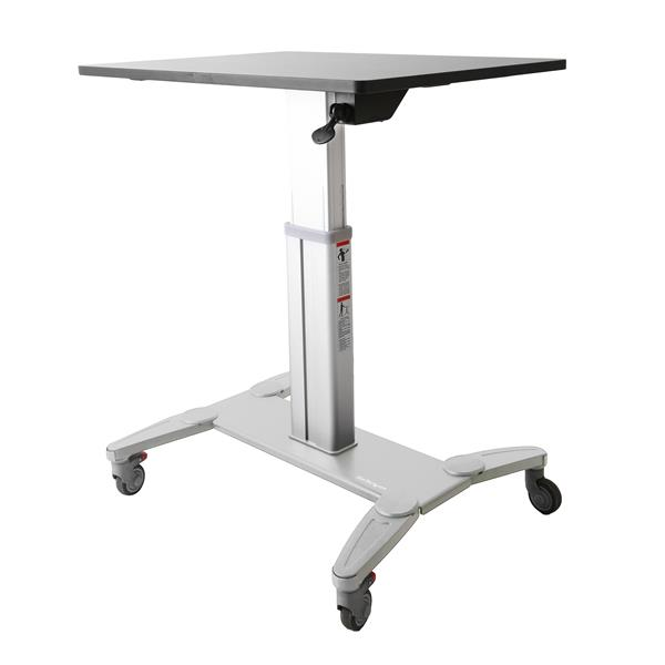 Startech Sit Stand Mobile Workstation - Rolling Desk - One-touch Heig ( Stscart )