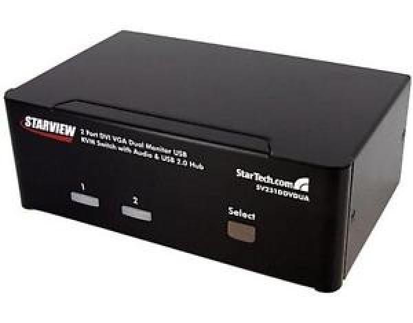STARTECH 2 Port Dvi Vga Dual Monitor Kvm Switch SV231DDVDUA