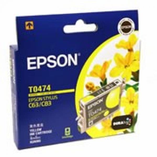EPSON T0474 Yellow Ink - Stylus C63 C65 C83 T047490