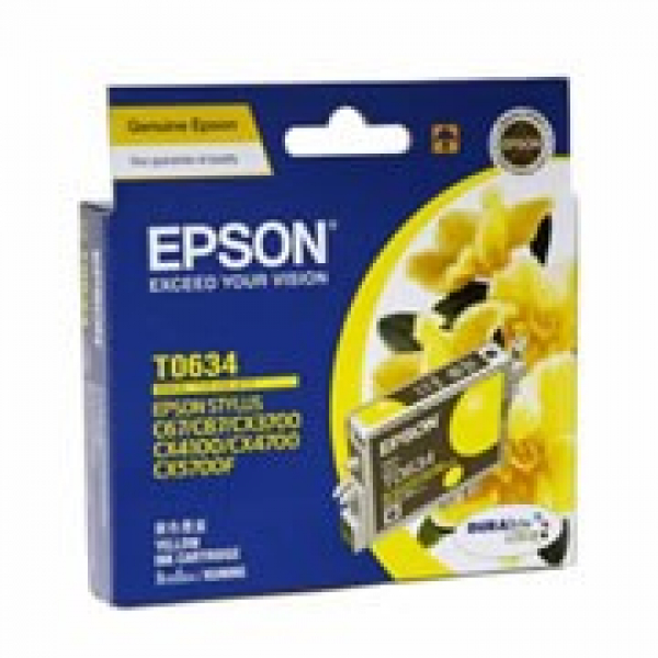 EPSON T0634 Yellow Ink Cartridge For Stylus C67 T063490