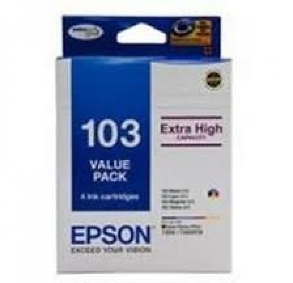 EPSON 103 Value Pack Inc Black Magenta Cyan T103592