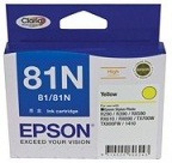 EPSON 81n Yellow Ink Cartridge For Stylus Photo T111492