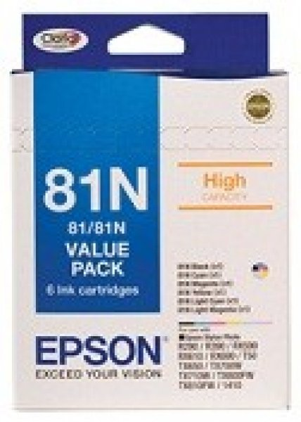 EPSON T81n Bundle Pack Ink Set For Stylus Photo T111792