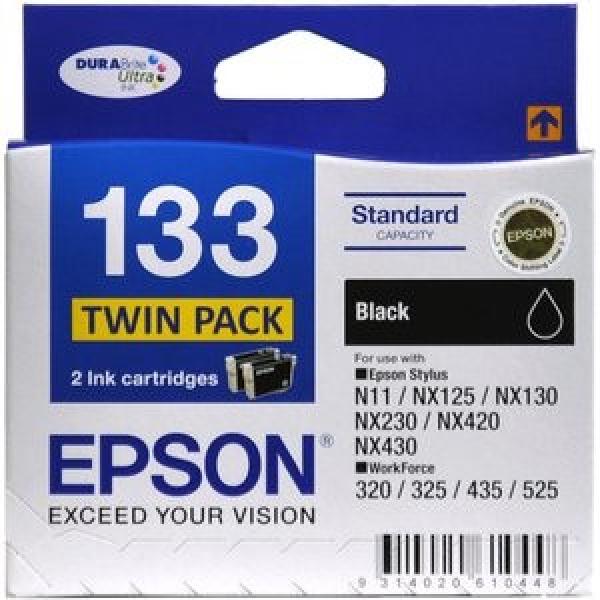 EPSON 133 Black Twin Pack 2x 133 Black T133194