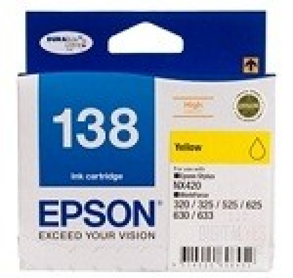 EPSON 138 High Capacity Yellow Ink Cartridge T138492