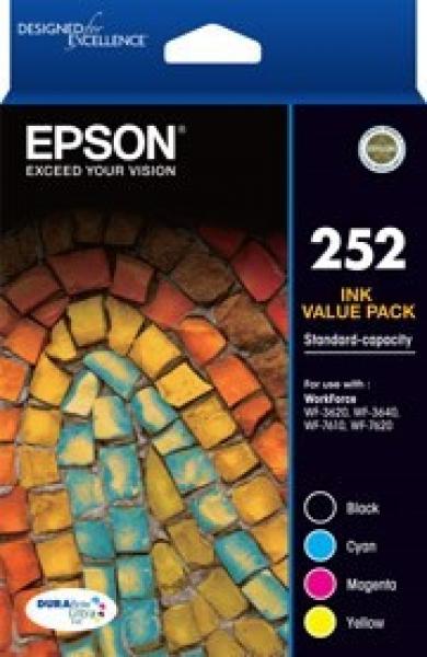 EPSON 252 Std 4 Colour Vp - Wf-3620 Wf-3640 T252692