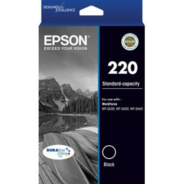 EPSON 220 (c13) Std Capacity Black Ink T293192