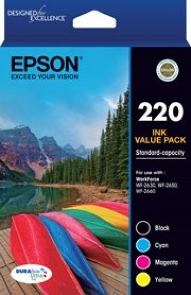 EPSON 220 (c13) Std Capacity Ink Value Pack T293692