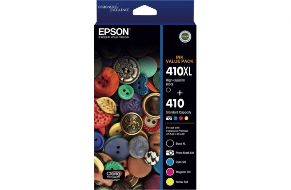 EPSON 410xl Black + Std Clrs (pb C M Y) X 5 Ink T339792