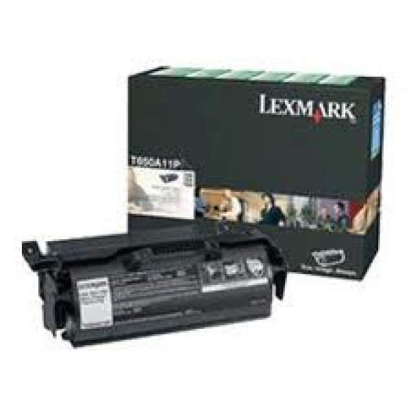 LEXMARK Black Prebate Toner Yield 7000 Pages T650A11P