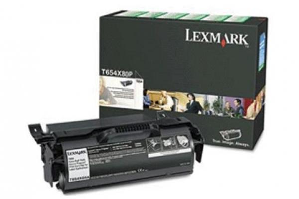 LEXMARK Extra High Yield Black Toner Cartridge T654X80P