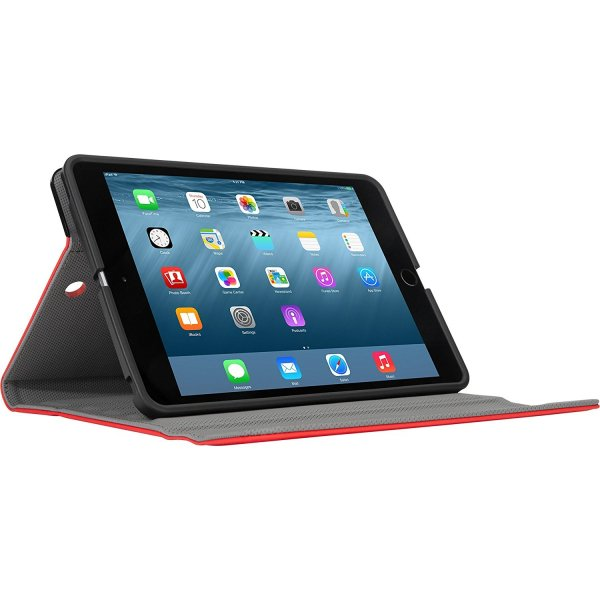 TARGUS Versavu Slim Ipad Mini 1 2 & 3 Rotating Stand Case Red - (THZ59403GL)